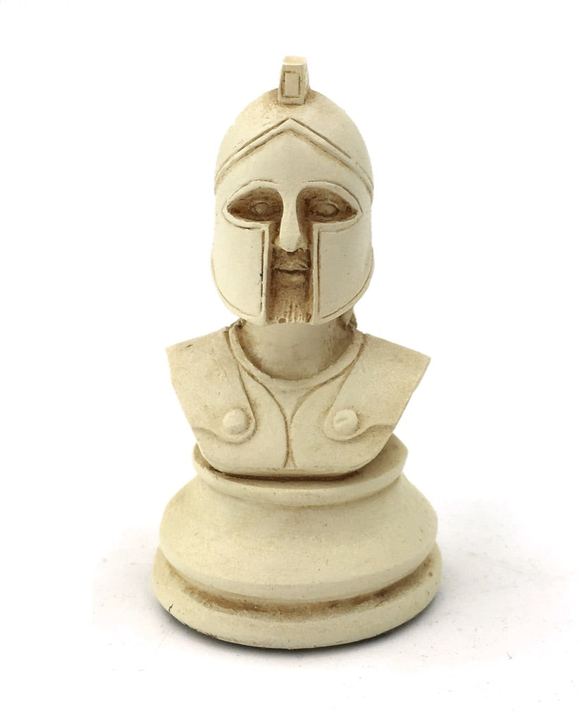 Set of 3 Greek Hoplite Military Playing Piece Miniature Bust Figurine 2H
