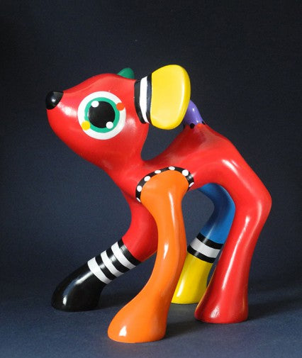 Jacky Zegers Jules Deer Large Abstract Bright Colors Pop Art Statue 6.7H
