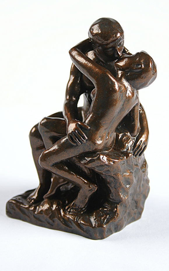 Pocket Art Rodin The Kiss Miniature Statue Wedding Cake Topper 3.75H
