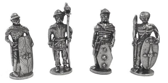 Museumize:Celtic Warriors Miniature Figurines Role Playing Pack of 4 1.5H