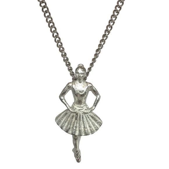 Degas Little Dancer Ballerina Dance Recital Award Pendant Necklace 1.25L