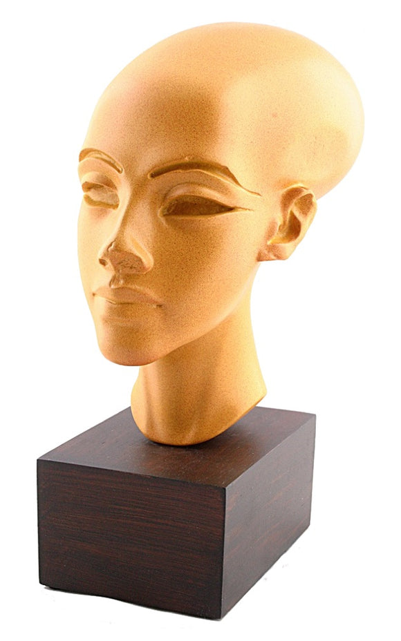 Amarna Egyptian Princess Head Statue Replica 10.4H