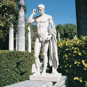 Marcellus or Germaicus by Kleomenes Classical Greek Roman Male Garden Statue 37H