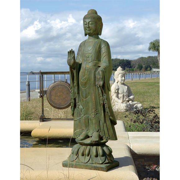 Enlightened Buddha Sculpture For Promoting Peaceful Garden Surroundings 40H