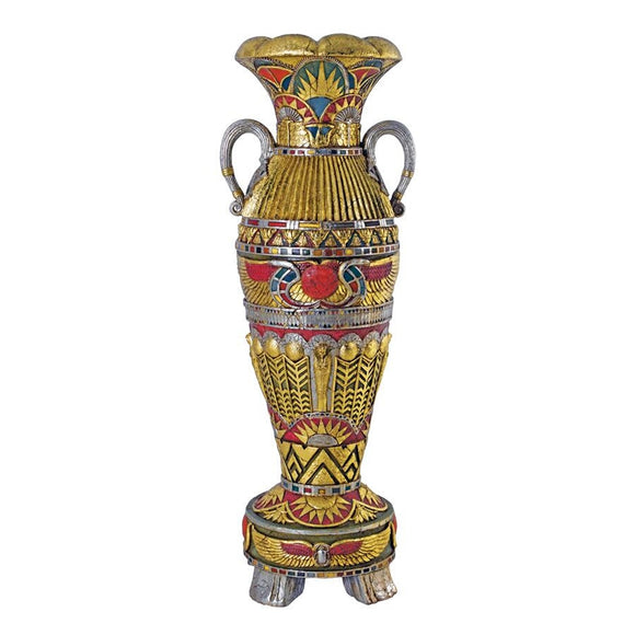 Egyptian Urn Statue Temple of Luxor Grand Scale Color 60.5H