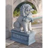 Giant Foo Dog Fu Hybrid Lion Dog Guardian of Entry Forbidden City Sculptures 30H