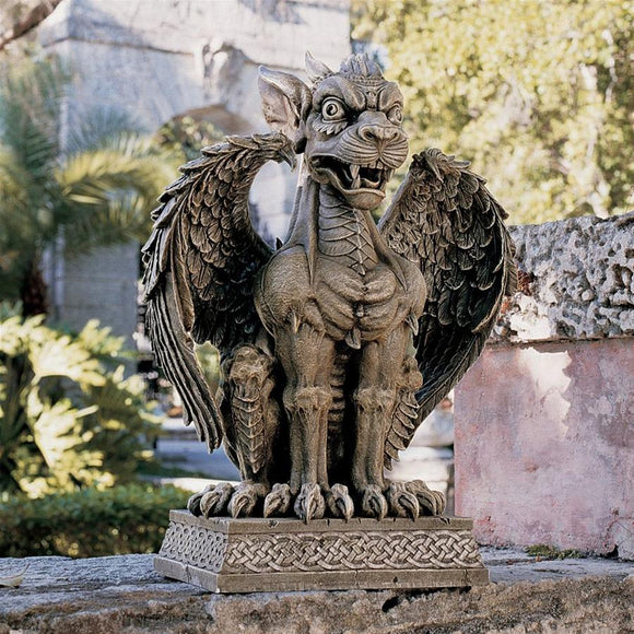 Gargoyle Beast Boden Sentinel Statue Guardian of Threshold Garden Statue 24H