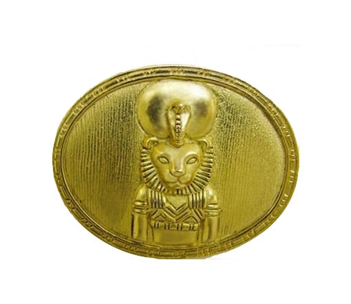 Egyptian Sekhmet Lion Goddess Portrait Pin or Pendant Necklace 1.6W