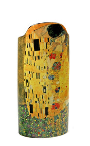 The Kiss Lovers Embrace Ceramic Flower Vase by Klimt 9H