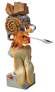 Picasso Portrait Surrealism Silver Spoon Brain by Salvador Dali 5.25H