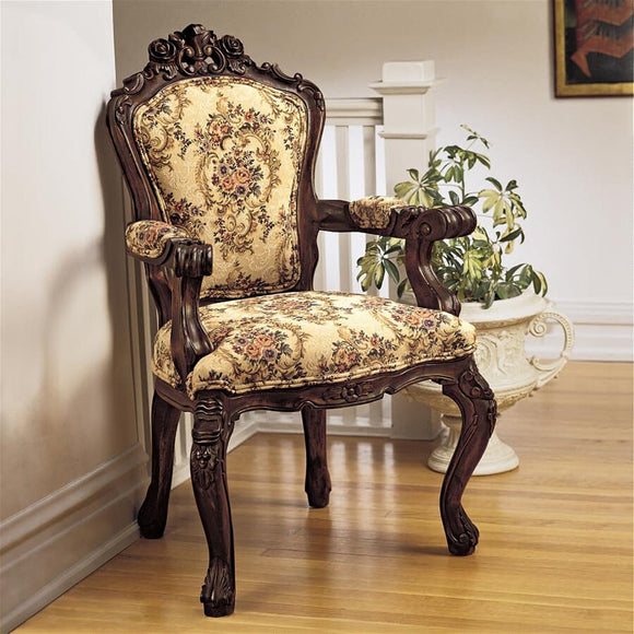 Carved Rocaille European Style Castle Chair 41H