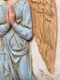 Archangel Gabriel of Mercy Praying to White Dove Wall Relief 13H