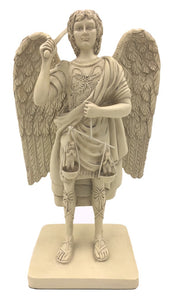 Archangel Michael with the Scales of Justice Christian Statue 8.25H