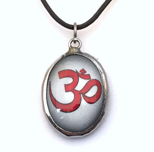 Museumize:Om Meditation Color Ceramic Unisex Pendant Necklace