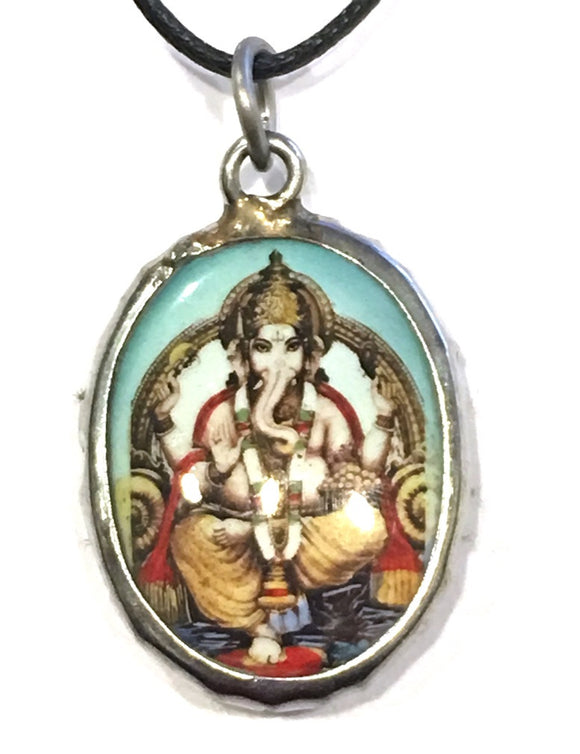 Museumize:Ganesh Hindu Color Ceramic Unisex Pendant Necklace
