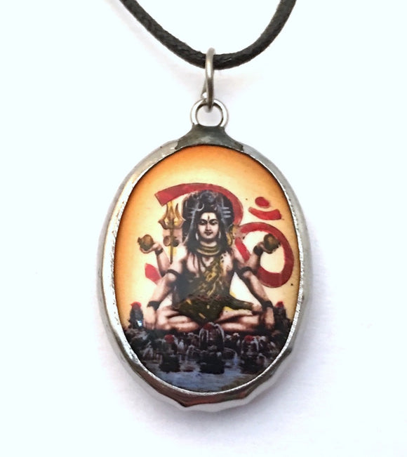 Museumize:Shiva Hindu Color Ceramic Unisex Pendant Charm Necklace