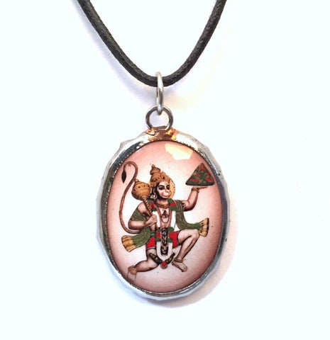 Museumize:Hanuman Monkey Hindu Color Ceramic Unisex Pendant Charm Necklace