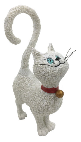 Cat with Question Mark Tail Asking What's For Dinner Statue Figurine by Dubout, Assorted Colors
