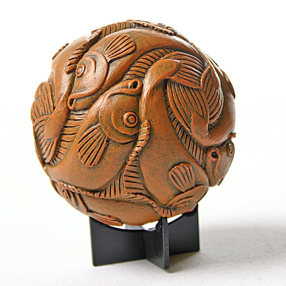 Sphere Fish Tessellation Orb Desktop Paperweight or Miniature by Escher 4H, Assorted Sizes