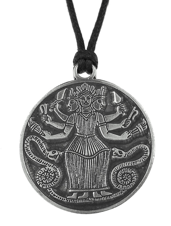 Hecate Greek Goddess Triple Goddess Unisex Pendant Charm Necklace