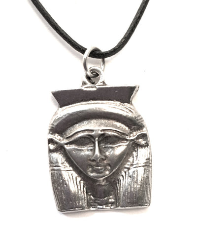 Hathor Egyptian Goddess Pewter Unisex Pendant Necklace 1L