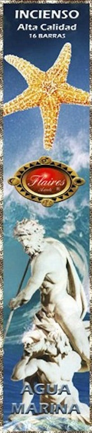 Aquamarine Fragrance of Poseidon Jupiter Greek Roman Incense Sticks by Flaires - 3 PACK