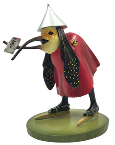 Bird with Letter Wearing Skates by Hieronymus Bosch Figurine from Temptation of St Anthony, Assorted Sizes