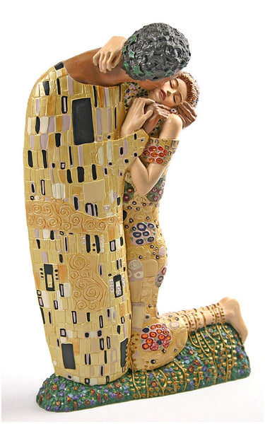 The Kiss 1907 By Gustav Klimt The Kiss Statue Lovers
