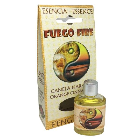 Feng Shui Fire Energy Orange Ceylon Cinnamon Essential Fragrance Oils by Flaires 15ml