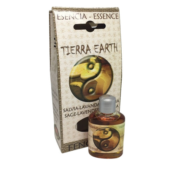 Feng Shui Earth Tierra Verbena Sage Lavender Flowers Essential Fragrance Oils by Flaires 15ml
