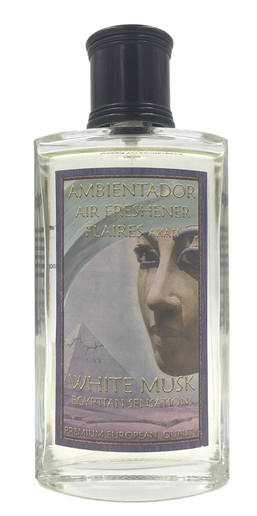 White Musk Moughet Iris Sandalwood Egyptian Scents Air Freshener Bottle by Flaires