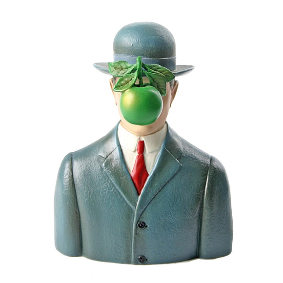 Museumize:Bowler Hat Man with Green Apple Son of Man by Magritte, Assorted Sizes,Small 5.5H