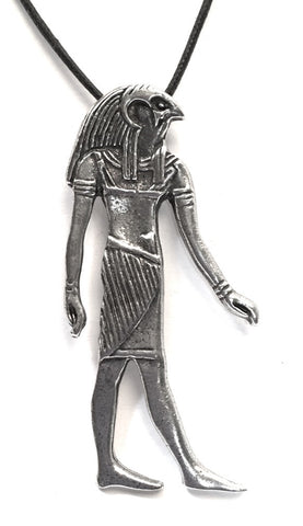 Horus Egyptian Costume Pewter Pendant Charm Necklace - Museumize