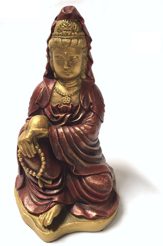 Kuan-Yin Making a Blessing of Compassion Statue 5.75H