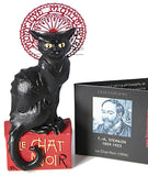 Le Chat Noir Black Cat Montmartre Figurine Statue by Steinlen, Assorted Sizes