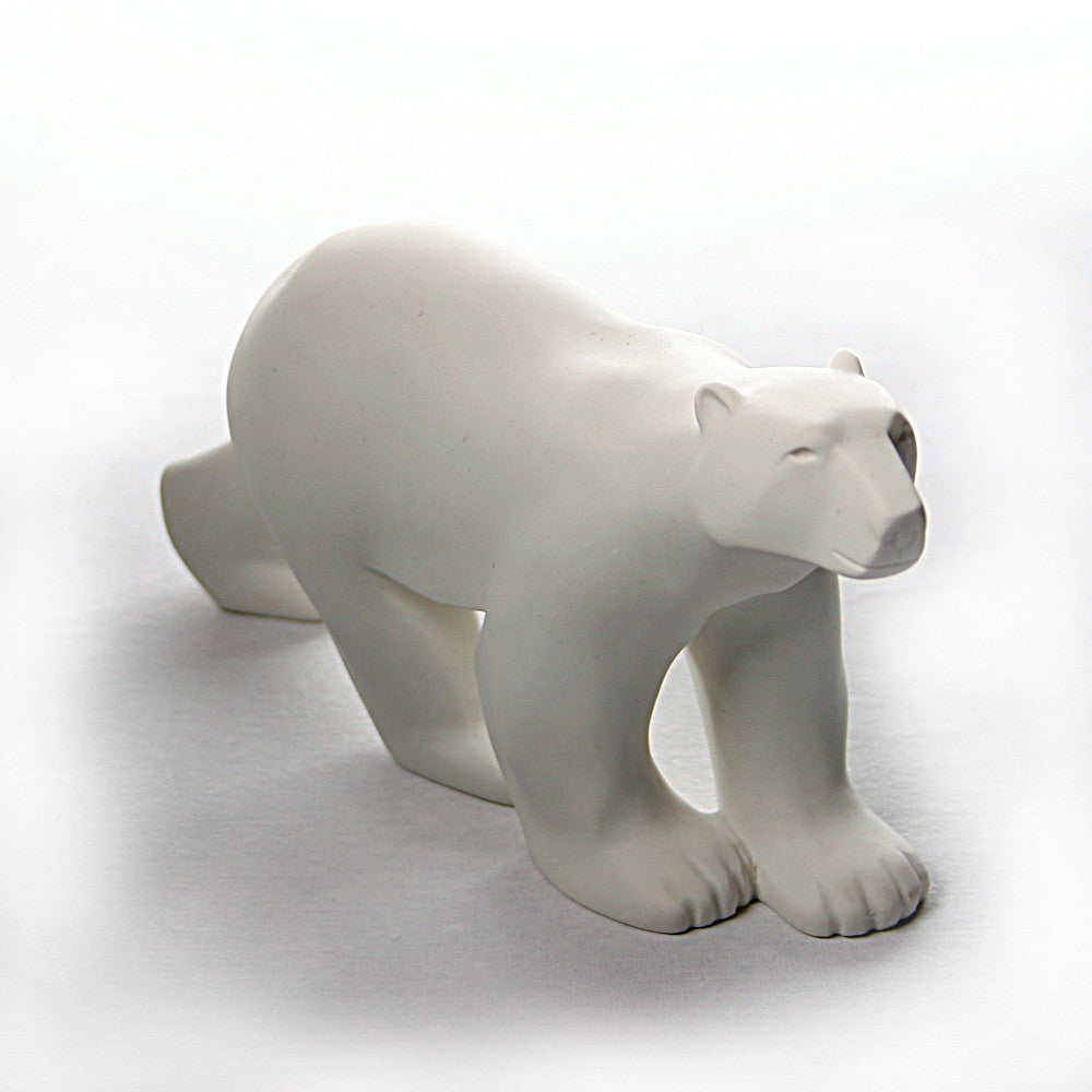 Polar Bear Walking In Stride L Ours Blanc Statue By