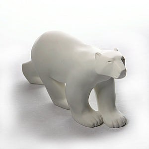 Polar Bear Walking in Stride L'Ours Blanc Statue by Francois Pompon, Assorted Sizes