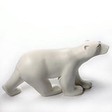 Polar Bear Walking in Stride L'Ours Blanc Statue by Francois Pompon, Assorted Sizes - Museumize  - 2