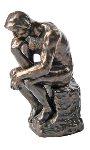 The Thinker Statue of Deep Contemplation by Rodin 5.5H