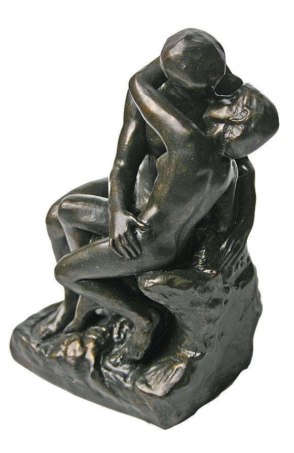 Museumize:The Kiss by Rodin Statue Bronze Finish, Parastone Collection, Assorted Sizes