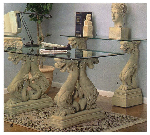 Dragon Fierce Dining Table Base or Desk 29H