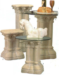 Museumize:Gothic 12th Century Pedestal Table Base, Assorted Sizes