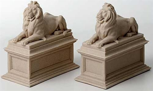New York Public Library Lions Manhattan Bookends by Edward Clark Potter 7H