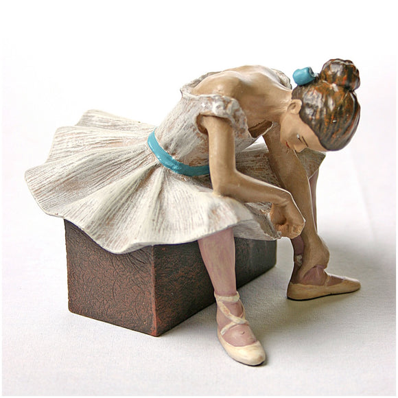 Ballerina Waiting in Tutu for Audition L'attente Statue by Degas 4H