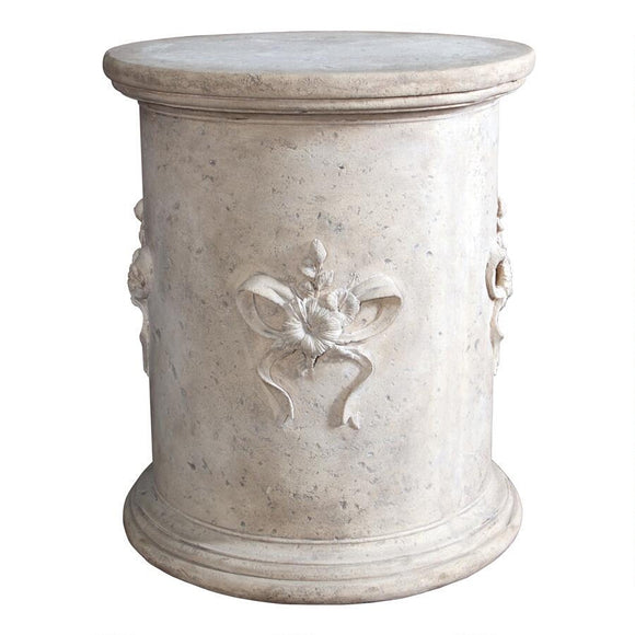 English Bow Round Column Garden Display Base Plinth 23.5 x 28H