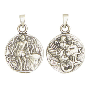 Hephaestus Vulcan Greek God of Fire Olympians Pewter Pendant Charm Unisex Necklace 1H