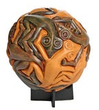 Lizards Geckos Tessellation Pattern Orb Paperweight by Escher 3H