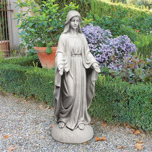 Madonna Mary in Blessing Pose Notre Grande Dame Garden Statue 36H