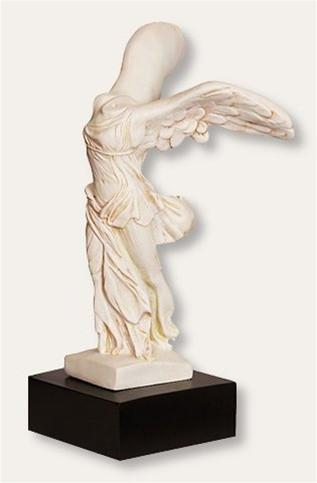 Nike of Samothrace Winged Victory Greek Goddess Statue 16H