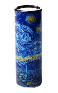 Van Gogh Starry Night Ceramic Tealight Candleholder 5.75H